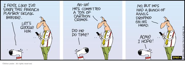 Comic Strip Mike Lester  Mike du Jour 2021-03-26 his