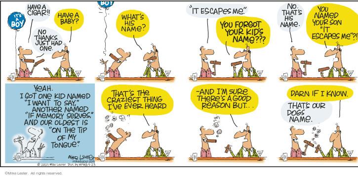 Comic Strip Mike Lester  Mike du Jour 2021-05-23 just