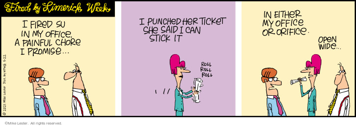 Comic Strip Mike Lester  Mike du Jour 2021-05-22 fire