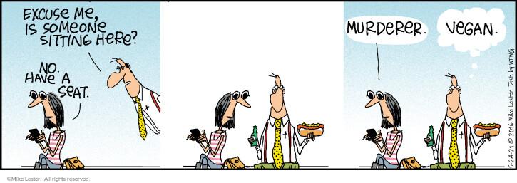 Comic Strip Mike Lester  Mike du Jour 2021-05-24 excuse