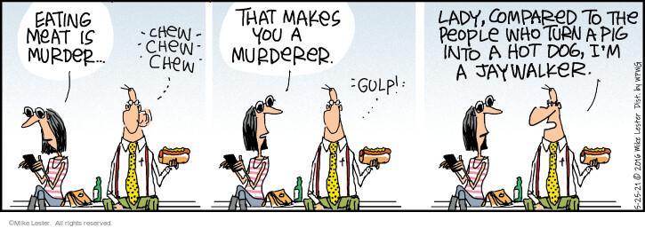 Comic Strip Mike Lester  Mike du Jour 2021-05-25 eat