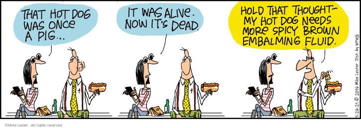 Comic Strip Mike Lester  Mike du Jour 2021-05-26 eat