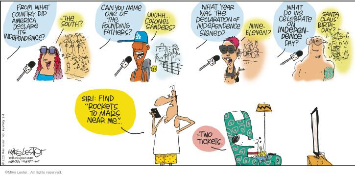 Comic Strip Mike Lester  Mike du Jour 2021-07-04 near