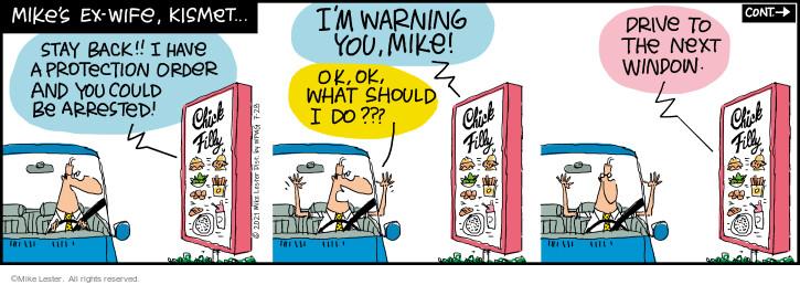 Comic Strip Mike Lester  Mike du Jour 2021-07-28 back