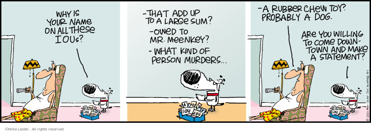 Comic Strip Mike Lester  Mike du Jour 2021-09-01 your
