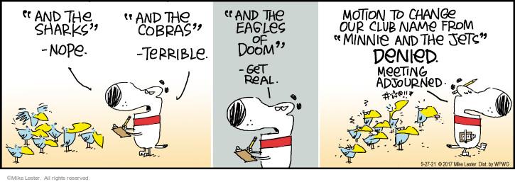 Comic Strip Mike Lester  Mike du Jour 2021-09-27 name