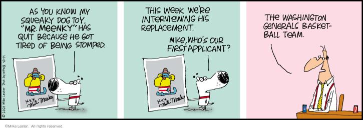 Comic Strip Mike Lester  Mike du Jour 2021-10-11 you