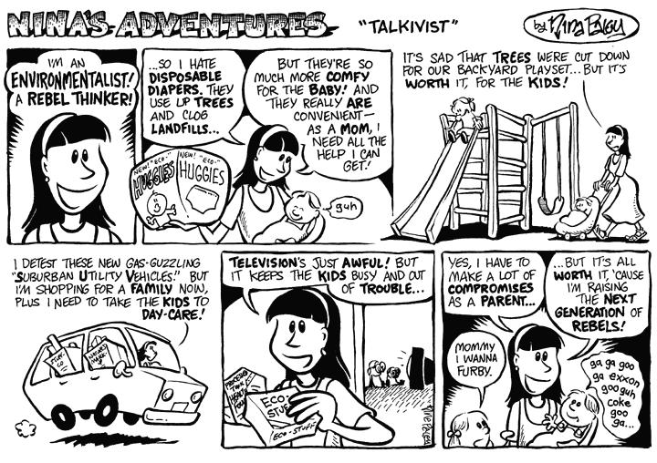 Comic Strip Nina Paley  Nina's Adventures 1999-10-10 artificial tree