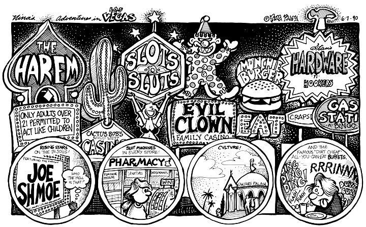 Comic Strip Nina Paley  Nina's Adventures 1990-06-07 all-you-can-eat buffet