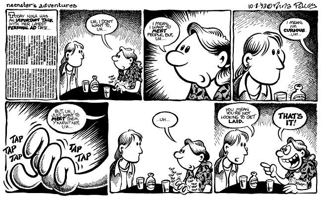 Comic Strip Nina Paley  Nina's Adventures 1993-10-08 Nina