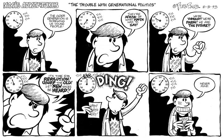 Comic Strip Nina Paley  Nina's Adventures 1993-10-31 passage of time