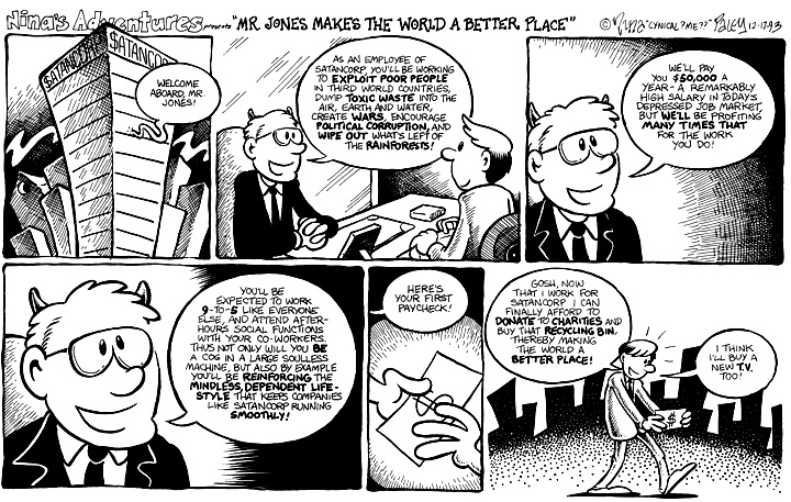 Comic Strip Nina Paley  Nina's Adventures 1993-12-17 pollution
