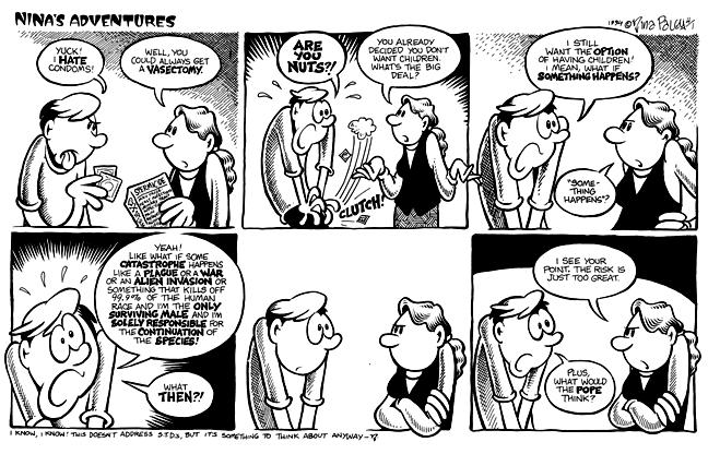 Comic Strip Nina Paley  Nina's Adventures 1994-04-01 war