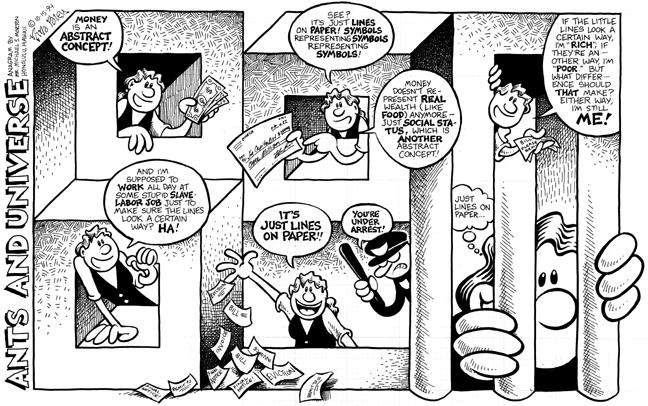 Comic Strip Nina Paley  Nina's Adventures 1994-10-15 perception reality
