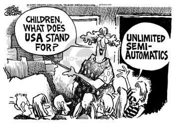 Children, what does USA stand for?  Unlimited Semi-Automatics.
