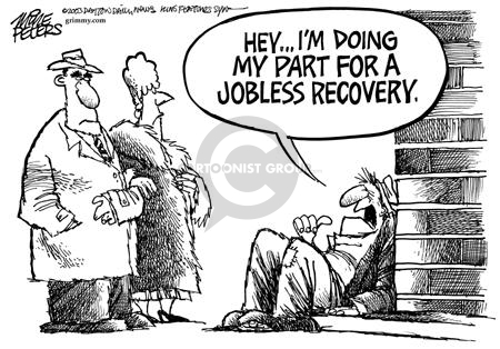 Cartoonist Mike Peters  Mike Peters' Editorial Cartoons 2004-01-02 unemployment