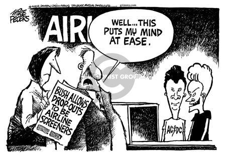 Cartoonist Mike Peters  Mike Peters' Editorial Cartoons 2002-01-04 airline travel