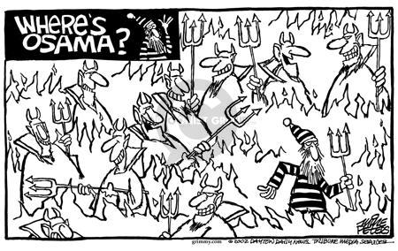 Cartoonist Mike Peters  Mike Peters' Editorial Cartoons 2002-01-05 terrorist