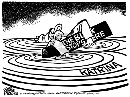 Cartoonist Mike Peters  Mike Peters' Editorial Cartoons 2006-02-19 Hurricane Katrina