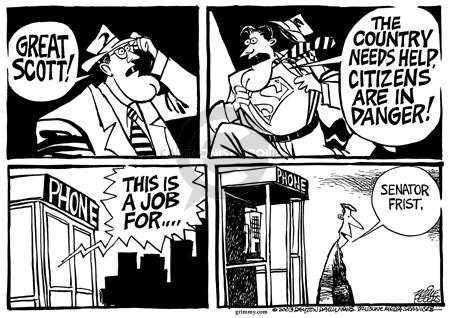 Cartoonist Mike Peters  Mike Peters' Editorial Cartoons 2003-01-06 challenge