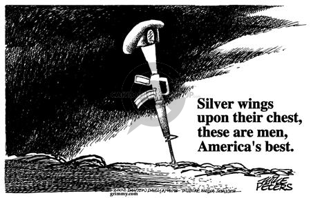 Mike Peters  Mike Peters' Editorial Cartoons 2002-01-08 weapon