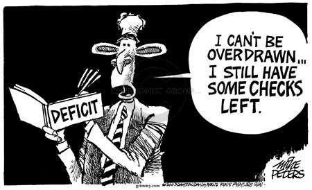 Mike Peters  Mike Peters' Editorial Cartoons 2003-01-10 federal budget