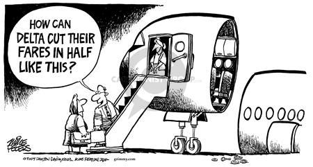 Cartoonist Mike Peters  Mike Peters' Editorial Cartoons 2005-01-10 airline travel