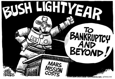 Cartoonist Mike Peters  Mike Peters' Editorial Cartoons 2004-01-15 bankruptcy