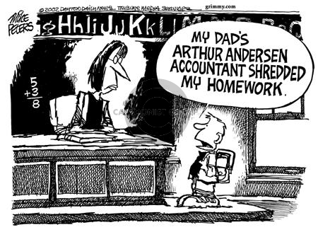 Cartoonist Mike Peters  Mike Peters' Editorial Cartoons 2002-01-16 accounting