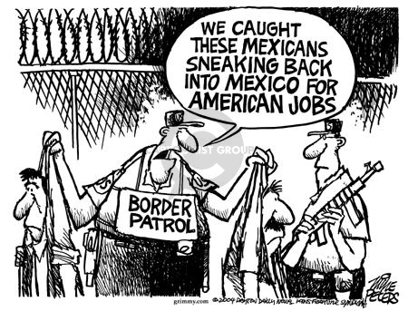 Cartoonist Mike Peters  Mike Peters' Editorial Cartoons 2004-01-16 immigrant