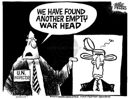 Cartoonist Mike Peters  Mike Peters' Editorial Cartoons 2003-01-19 war