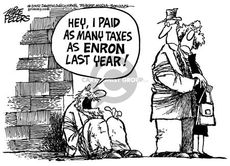 Cartoonist Mike Peters  Mike Peters' Editorial Cartoons 2002-01-23 accounting