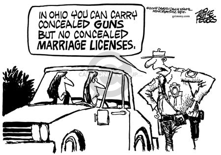 Cartoonist Mike Peters  Mike Peters' Editorial Cartoons 2004-01-25 police