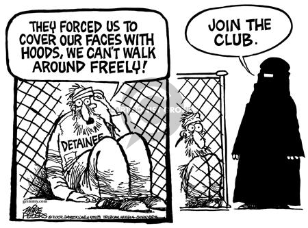 Cartoonist Mike Peters  Mike Peters' Editorial Cartoons 2002-01-26 prison