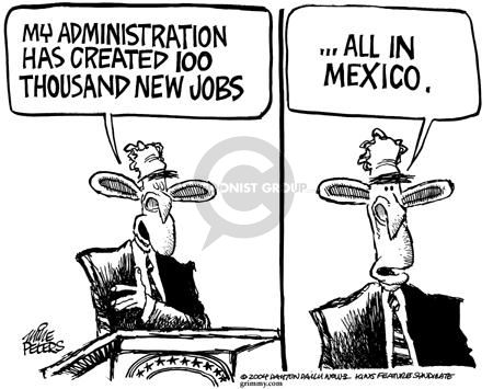 Cartoonist Mike Peters  Mike Peters' Editorial Cartoons 2004-01-30 globalization