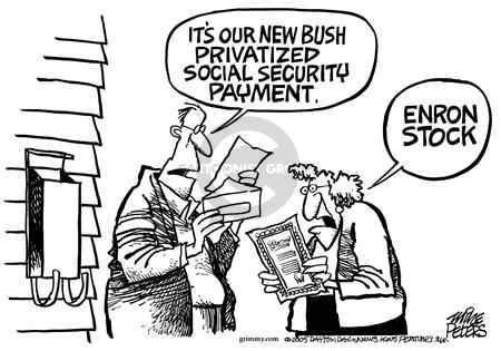 Its our new Bush privatized social security payment.  Enron stock.
