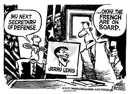 Cartoonist Mike Peters  Mike Peters' Editorial Cartoons 2003-02-06 national