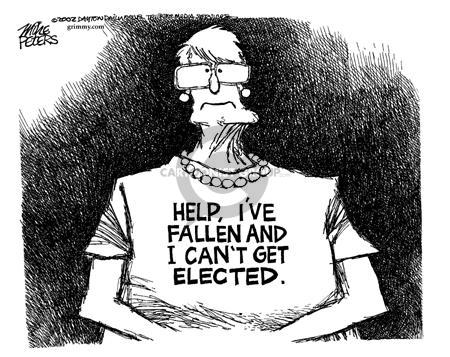 Cartoonist Mike Peters  Mike Peters' Editorial Cartoons 2002-02-07 gubernatorial