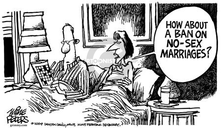 Cartoonist Mike Peters  Mike Peters' Editorial Cartoons 2004-02-07 measure