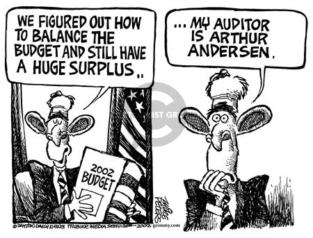 Cartoonist Mike Peters  Mike Peters' Editorial Cartoons 2002-02-08 accounting