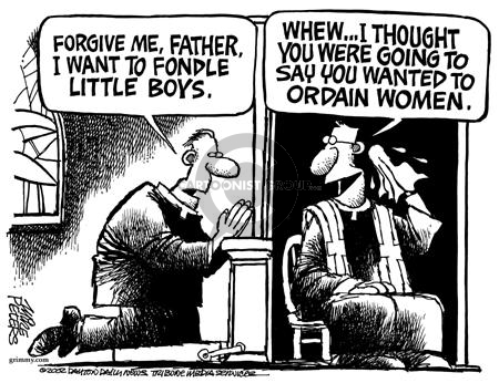 Cartoonist Mike Peters  Mike Peters' Editorial Cartoons 2002-02-10 abuse