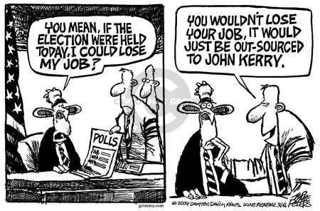 Cartoonist Mike Peters  Mike Peters' Editorial Cartoons 2004-02-12 outsource