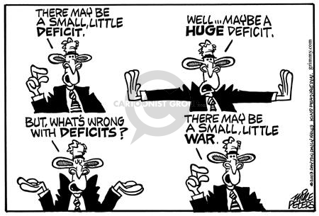 Mike Peters  Mike Peters' Editorial Cartoons 2003-03-13 deficit