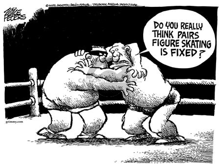 Cartoonist Mike Peters  Mike Peters' Editorial Cartoons 2002-02-15 competition