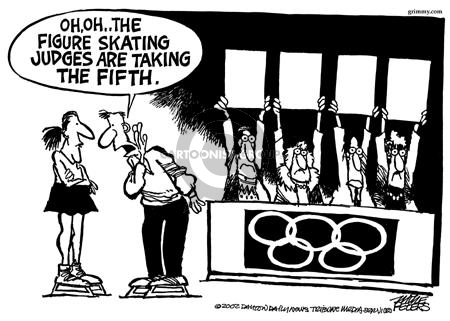 Cartoonist Mike Peters  Mike Peters' Editorial Cartoons 2002-02-16 winter Olympics