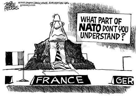 Cartoonist Mike Peters  Mike Peters' Editorial Cartoons 2003-02-16 France