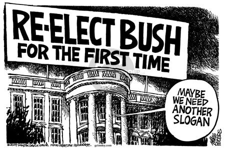 Cartoonist Mike Peters  Mike Peters' Editorial Cartoons 2004-02-19 2000 election