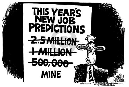 Cartoonist Mike Peters  Mike Peters' Editorial Cartoons 2004-02-21 unemployment projection