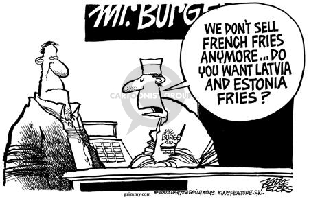 Cartoonist Mike Peters  Mike Peters' Editorial Cartoons 2003-02-22 France
