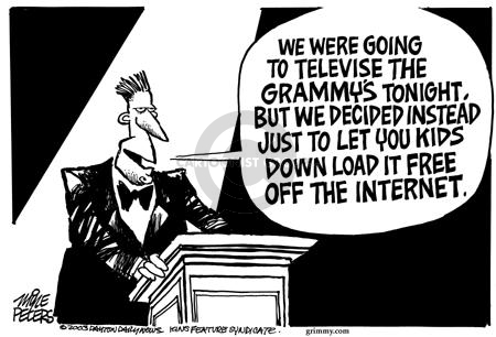 Cartoonist Mike Peters  Mike Peters' Editorial Cartoons 2003-02-23 announcement